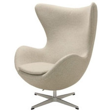 Contemporary Chairs Neutral Egg Chair