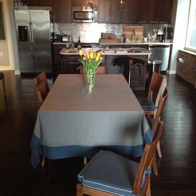 Custom Dining Room chair cushions and tablecloth -