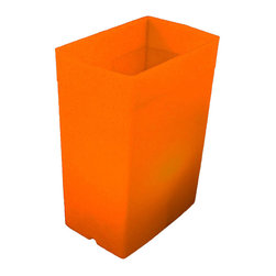 FLIC Luminaries, LLC - Orange FLIC Luminaries, Set of 24, Candles & Holders - 24 Orange FLIC Luminaries with Candles and Holders.