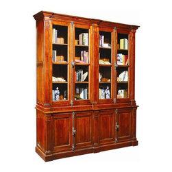EuroLux Home - Large New Bookcase Cabinet Oak Wood - Product Details