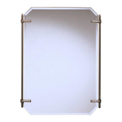 """WESTWOOD - WESTWOOD Polygon Transitional Mirror X-PA55014 - As a match to the 5104 AP Beautywrap bath fixture, purchase this fine Antique Pewter beveled mirror to complete a uniform look for your Beautywrap lighting system. It measures 24 ½"""" wide by 32"""" high."""