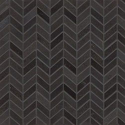 None - Absolute Black Granite Chevron Mosaic Polished Tiles (Box of 10 Sheets) - Absolute Black Granite is a highly durable, non-pourous classic material. Use this mosaic in your shower, on your backsplash or as an accent for your bathroom.