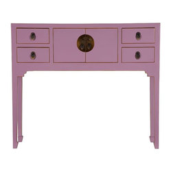 Chinese Collection Suri Console Table, Pink