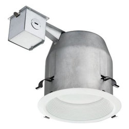 Lithonia Lighting - Lithonia Lighting 5 in. Recessed Matte White LED Baffle Kit LK5BPMW LED M4 - Shop for Lighting & Fans at The Home Depot. The LED 5 in. Recessed Matte White Baffle Kit from Lithonia Lighting makes shopping for and installing recessed downlighting easy by conveniently including a 5 in. remodel housing, decorative trim with integrated LEDs, wire nuts and a cutting stencil all in one box. The energy efficient integrated LEDs operate for 30,000 hours without maintenance, which means you never have to buy or change a bulb. The kit can be converted to new construction using hanger bars and construction pan accessories.