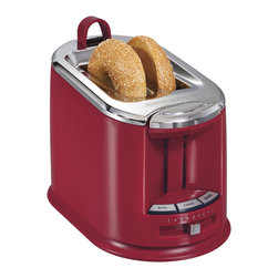Hamilton Beach - Hamilton Beach 22324 Red 2-slice Toaster - Hamilton Beach 2-slice Toasters are popular not only for their expert toasting performance-they also look great in your kitchen. Wider slots and smart buttons allow you to uniformly toast and warm bagels, English muffins and other breads.