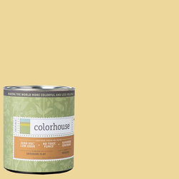 Inspired Flat Interior Paint, Beeswax .01, Quart - Colorhouse paints are zero VOC, low-odor, Green Wise Gold certified and have superior coverage and durability. Our artist-crafted colors are designed to be easy backdrops for living. Colorhouse paints are 100% acrylic with no VOCs (volatile organic compounds), no toxic fumes/HAPs-free, no reproductive toxins, and no chemical solvents.