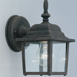 """Designers Fountain - Designers Fountain 2861-AG 1 Light 5.25"""" Cast Aluminum Wall Lantern from the Qui - Features:"""