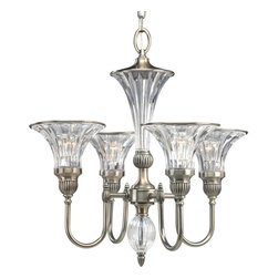 Thomasville Lighting by Progress - Thomasville Lighting P4505-101 Roxbury Silver 4 Light Chandelier - Thomasville Lighting P4505-101 Roxbury Silver 4 Light Chandelier