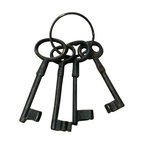 "AJchibp-2975-04 - Cast Iron Keys (4) Wall Hanger - Cast iron keys (4) wall hanger. Measures 9"" x 8"". No assembly required."
