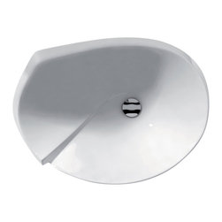 WS Bath Collections - 25.1 in. Bathroom Washbasin - Contemporary style. Designer high end quality. Vessel or over counter installation. Make to highest industry standards. Warranty: One year. Made from ceramic. White color. Made in Italy. No assembly required. 25.1 in. W x 18.1 in. D x 10.9 in. H (35 lbs.). Specs sheetArtistic modern ceramic washbasins with the greatest imaginable versatility in appication. Models that adhere to the more current trends of design, harmony and elegance.