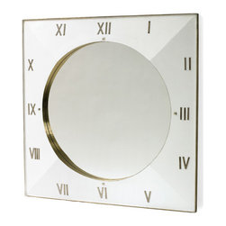 Slick Mirror - Slick mirror is a truly sophisticated decor item for every modern setting. This classy mirror is beveled in wood frame and features polished nickel finish in white color.