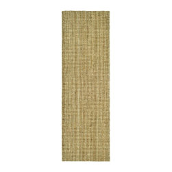 Safavieh - Natural Fiber Rug in Natural (8 ft. x 2 ft. 6 in.) - Size: 8 ft. x 2 ft. 6 in. Traditional style. Power loomed. Soft and durable. Made from sisal. Made in India. This densely woven rug will add a warm accent and feel to any home. Care Instructions: Vacuum regularly. Brushless attachment is recommended. Avoid direct and continuous exposure to sunlight. Do not pull loose ends; clip them with scissors to remove. Remove spills immediately; blot with clean cloth by pressing firmly around the spill to absorb as much as possible. For hard-to-remove stains professional rug cleaning is recommended.