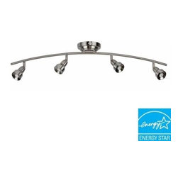 Hampton Bay - Hampton Bay Kelso 4-Light Brushed Nickel LED Track Lighting KERF4200LEDSN3K - Shop for Lighting & Fans at The Home Depot. Contemporary designed 4-light LED fixed track. This fixture features long life LED heads. It also delivers energy savings using low wattage while delivering high performance.
