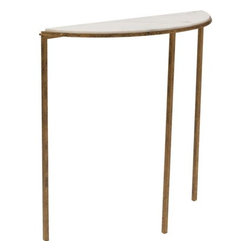 Hammered Gold Console Table -