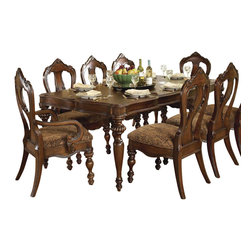 Homelegance - Homelegance Prenzo 10-Piece Leg Dining Room Set in Brown - European elegance at its best. Flowing lines, detailed carvings, beautiful veneer treatments and grand scale are some of the many design elements of our Prenzo collection .