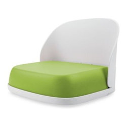 """Oxo Tot - OXO Tot Seedling Booster Seat in Green - OXO Tot Seedling Booster Seat is great for when it's time for your toddler to enjoy meals in a grown-up chair. Positions children three years and up at the perfect height with the help of a comfortable 3"""" cushioned seat."""