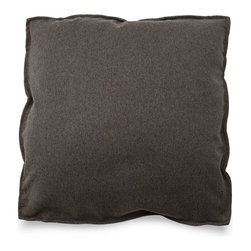Blu Dot - Blu Dot Medium Square Pillow, Graphite - It might be a square, but it's no where near boring. Available in 12 colors for you to play with.Cocoa, Graphite, Pebble, Persimmon: 100% Polyester, Chalk, Dark Roast: 70% Acrylic / 30% Wool blend, Ocean, Smoke, Stone: 77% Cotton / 23% Polyester, Aqua: 60% Wool / 40% Rayon blend upholstery, Guacamole: 80% Acrylic / 30% Wool