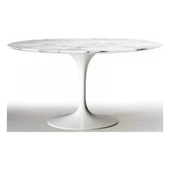 "39"" Round Marble Top Table"