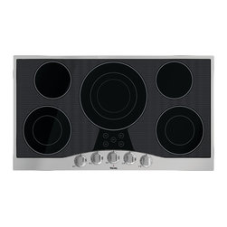 """Viking 3 Series 36"""" Electric Cooktop, Stainless With Black Glass 