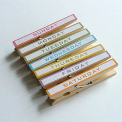 Day of the Week Magnetic Clips - Day of the week clips are perfect for keeping track of bills and other important reminders.