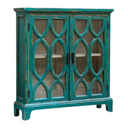Uttermost - Uttermost - Theona Console Cabinet In Hand Painted/Distressed - 25648 - Theona Collection Console Cabinet