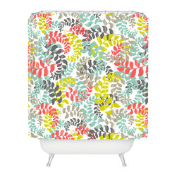 DENY Designs - Heather Dutton Undertow Coral Shower Curtain - Who says bathrooms can't be fun? To get the most bang for your buck, start with an artistic, inventive shower curtain. We've got endless options that will really make your bathroom pop. Heck, your guests may start spending a little extra time in there because of it!