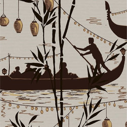 "GONDOLA Wallpaper - This Gondola wallpaper by Cole & Son for Lee Jofa is  priced and sold by the 11 yard roll.  It is 21"" wide with a 25"" vertical repeat. One roll will cover 57.75 Square Feet or 5.37 Square Meters and is from the United Kingdom"