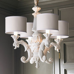 White Baroque Chandelier