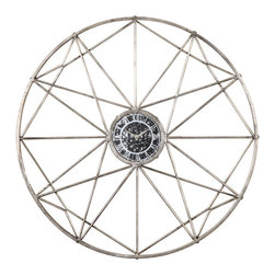 Uttermost - Shoneah Wall Clock - Shoneah Wall Clock is made of metal in a interesting geometric design.