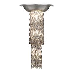 Fine Art Lamps - Fine Art Lamps 813950ST Celestial Silver Leaf Wall Sconce - 5 Bulbs, Bulb Type: 25 Watt Candelabra; Weight: 12lbs