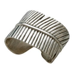 Kouboo - Banana Leaf Pewter Napkin Ring, Set of 2 - This carefully-crafted banana leaf pewter napkin ring wraps your guests napkins in graceful style. Designed to look like curled leaf, the beautifully embossing on this napkin ring adds a lovely touch to any table.1 year limited warranty.