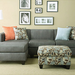 None - Anthony Charcoal Sectional Sofa Set - Set includes: Reversible L/R CHAISE Sectional,Pillows,and Ottoman  Materials: Microfiber,Hard wood solidsFinish: Charcoal