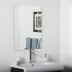 Decor Wonderland - Ava Modern Bathroom Wall Mirror - 24W x 32H in. Multicolor - SSM1111 - Shop for Bathroom Mirrors from Hayneedle.com! Any mirror can reflect but the Ava Modern Bathroom Wall Mirror - 24W x 32H in. offers a decorative accent that brings your space to life. This ornate design features an expansive surface with captivating V-groove cuts and U-groove rounded detailing that runs down both sides of the mirror. While the name reads bathroom this piece would make a stunning addition to any room of your home or office and it comes with quick and convenient wall-mounting hardware for hanging both vertically and horizontally.About Decor Wonderland of USDecor Wonderland US sells a variety of living room and bedroom furniture mirrors lamps home office necessities and decorative accessories. Decor Wonderland strives to add variety to their selection so that every home is beautifully and perfectly decorated to suit their customer's unique tastes.