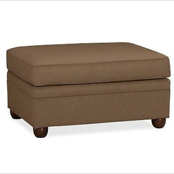 """Chesterfield Upholstered Ottoman, everydaysuede(TM) Nutmeg - Comfort and style define our Chesterfield Collection. Crafted in the America using eco-friendly components, our ottoman works equally well as additional seating or as a footrest companion to the Chesterfield Sofa or Armchair. 38"""" w x 27"""" d x 21"""" h {{link path='pages/popups/PB-FG-Chesterfield-3.html' class='popup' width='720' height='800'}}View the dimension diagram for more information{{/link}}. {{link path='pages/popups/PB-FG-Chesterfield-4.html' class='popup' width='720' height='800'}}The fit & measuring guide should be read prior to placing your order{{/link}}. Ottoman has a polyester wrapped cushion. Proudly made in America, {{link path='/stylehouse/videos/videos/pbq_v36_rel.html?cm_sp=Video_PIP-_-PBQUALITY-_-SUTTER_STREET' class='popup' width='950' height='300'}}view video{{/link}}. For shipping and return information, click on the shipping info tab. When making your selection, see the Special Order fabrics below. {{link path='pages/popups/PB-FG-Chesterfield-5.html' class='popup' width='720' height='800'}} Additional fabrics not shown below can be seen here{{/link}}. Please call 1.888.779.5176 to place your order for these additional fabrics."""