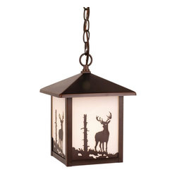 Vaxcel - Vaxcel OD33586BBZ Bryce Outdoor Pendant BBZ (Deer) - Vaxcel Lighting OD33586BBZ Bryce Outdoor Pendant This item by Vaxcel Lighting is offered in a burnished bronze finish. Requires one 100-watt frosted inc
