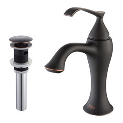 Kraus - Kraus Ventus Single Lever Basin Faucet and Pop Up Drain with Overflow Oil Rubbed - *At Kraus, we use various elements of design to impress and make a statement in order to turn your private space into a truly unique one