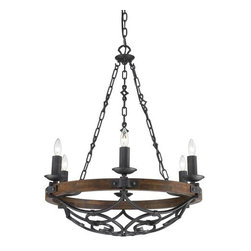 Golden Lighting - Golden Lighting 1821-6 Madera 6 Light Candle Style Chandelier - Golden Lighting 6 Light Chandelier from the Madera CollectionFeatures: