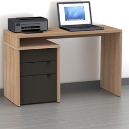 """Nexera - Infini-T 3 Drawer Computer Desk - We all have different needs and preferences so why not have a collection that caters to what YOU want? Express your creativity with the brand new Infini-T collection from Nexera. Entertainment center, home office, storage and decoration - this collection does it all! With its unique modular conception that lets you mix and match the different items, you're sure to find your own perfect configuration. Features: -Desk. -Infini-T collection. -Engineered wood and laminate construction. -Legal file drawer. -Three utility drawers with metal glides. -Metal drawer pulls. -Desk Panel can be attached to either side. -1"""" Thick top with tuff coat finish. -Assembly required. -Dimensions: 29.5"""" Height x 19.75"""" Width x 47.75"""" Depth."""