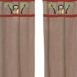 Sweet Jojo Designs - Monkey Window Panels (Set of 2) - The Monkey window curtain panel set (2 panels) will help complete the look of your Sweet Jojo Designs room. These window treatments instantly change the look and feel of any room, adding layers of warmth and style. Each of the 2 panels measures 42in. x 84in.