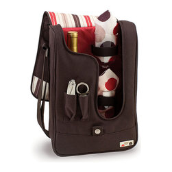 Picnic Time Insulated Wine Tote and Tool Set - If your picnic involves a bottle of wine and a great sunset, this tote keeps it simple.
