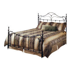 Hillsdale Furniture - Hillsdale Bennett Panel Bed - Full - The Bennett bed is a surprising twist on a traditional style. With elongated finials a sweeping footboard and unique ornamentation, it's not your average old fashioned bed.