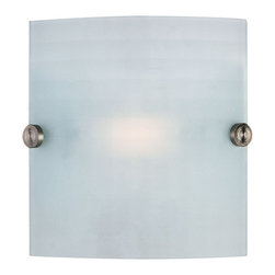 Access Lighting - Access Lighting 62054 Single Light Ambient Lighting Wall Washer from the Radon C - Single light ambient lighting wall washer featuring checkered frosted glassRequires 1 100w T-3 Base Halogen Bulbs (Not Included)