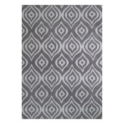 Rug - ~ 5 ft. x 7 ft. Unique Transitional Grey Living Room Area Rug - METRIC COLLECTION