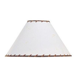 Cal Lighting - 6 in. x 18 in. Hardback Fabric Stitched Shade - Hardback fabric stitched shade. Top: 6 in.. Bottom: 18.5 in.. Side: 12 in.