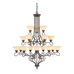 Livex Lighting - Livex Lighting 6139 Coronado 18 Light 3 Tier Chandelier - Features: