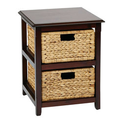 Office Star - Office Star Seabrook Two Tier Storage Unit in Espresso - Office Star - Storage Units - SBK4512AES - Store your towels clothes or other miscellaneous things of your choice with the OSP Designs Two-Tier Storage Unit. Adding this storage unit would give your place a fresh feel.