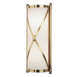 Robert Abbey - Chase Wall Sconce, Antique Brass - This opulent sconce will take your walls to a whole new level. Fit for the most luxe royal chambers, this sconce is perfect for those little places where you need more than a painting, but less than a lamp.