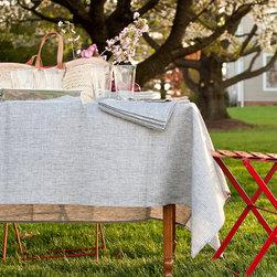 Linen Tablecloth by Stripe Fog Linen Work -