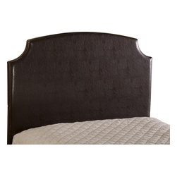 Hillsdale Furniture - Hillsdale Lawler Headboard in Brown Faux Leather, Full - Cozy, comfortable simplicity is the hallmark of the Lawler Bed. Easy neutrals and fabrics come together with a classic, no frills headboard design. The Lawler is available in a brown faux leather, a cream fabric, as well as a dark heather (dark/brown) fab