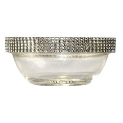 Alan Lee Collection - Princess Collection 3.5 Inch Bowl - This 3.5 inch mini bowl is all adorned with hand applied cut crystals. Use it for condiments, tapas or just for decoration.